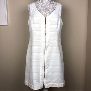 Trina Turk White Sleeveless Dress with Gol…